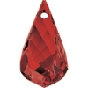 Swarovski Drop 6020 Helix 18mm Red Magma Crystal